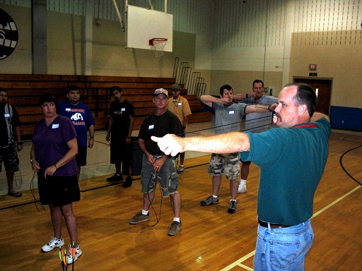 Burnie Kessner teaching teachers archery