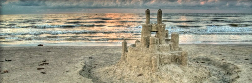 Sandcastle on Texas Beach