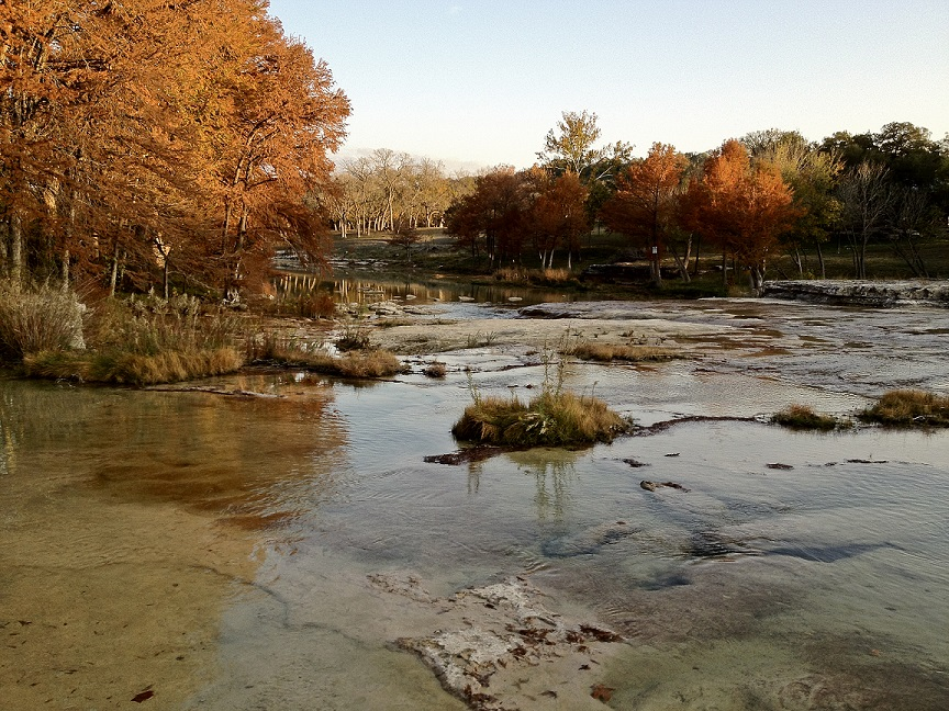 Fall foliage along the Blanco River