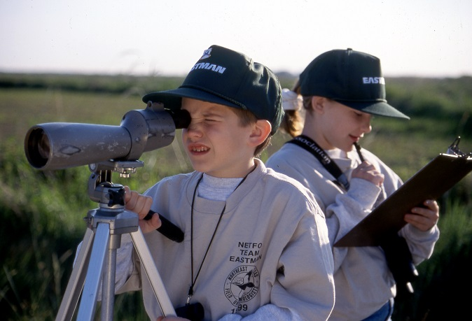 Kids participating in the Great Texas Birding Classic