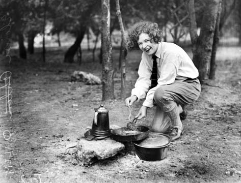 Old time campfire cooking in Texas.