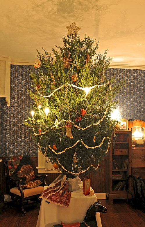 Christmas Tree inside Saur-Beckmann State Historic Site