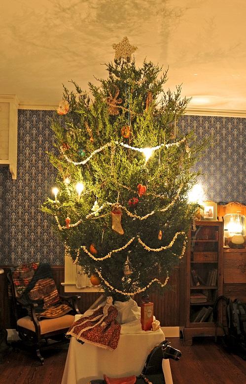 Christmas Tree inside Saur-Beckmann State Historic Site