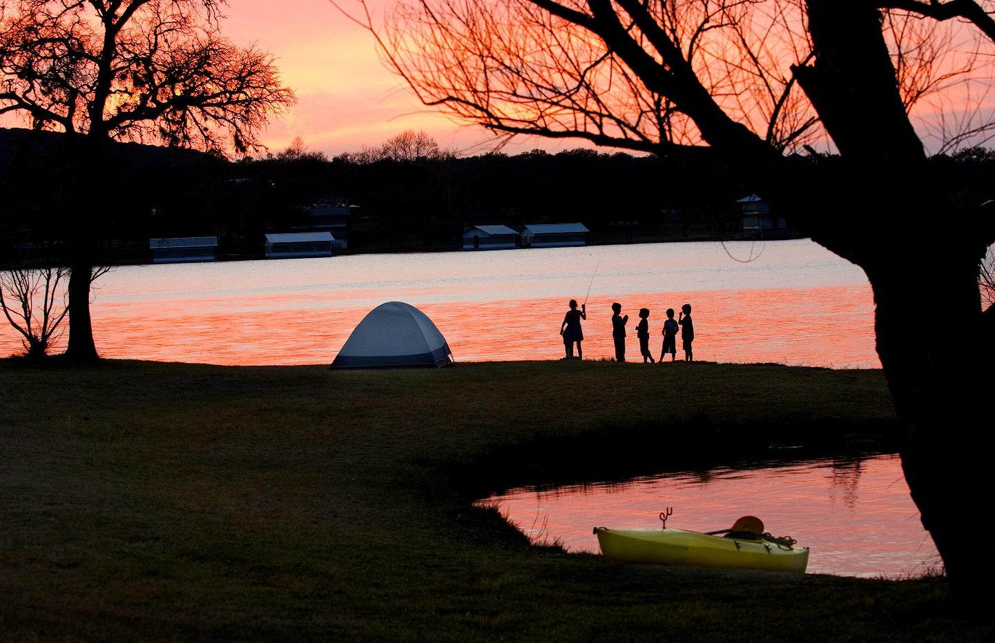 Camping at Inks Lake