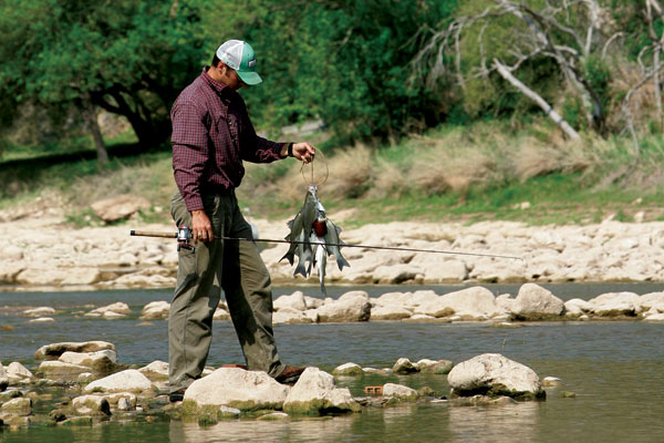 Fishing at Colorado Bend State Park