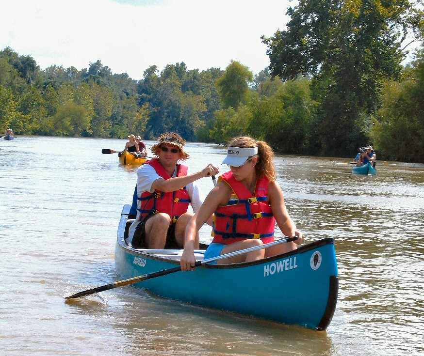 Canoe the Colorado River in Columbus (publicity photo by Tonya Britton)