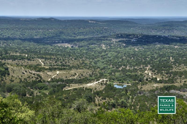 Terrain of Bandera County
