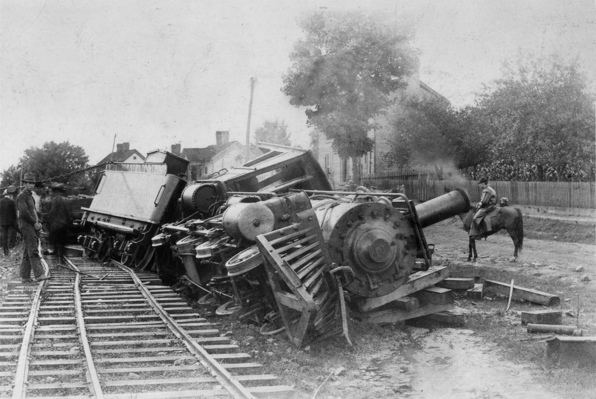 The kind of train wreck that may have ended William George Hughes life.