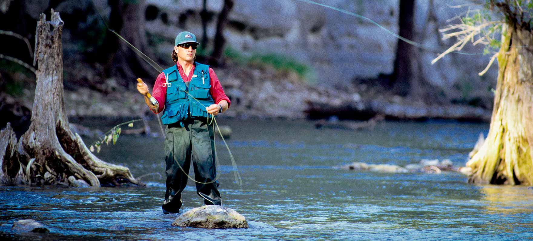 Fly Fishing in the Guadalupe River.