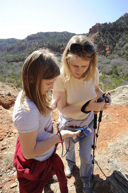 Using GPS technology to enjoy the outdoors.