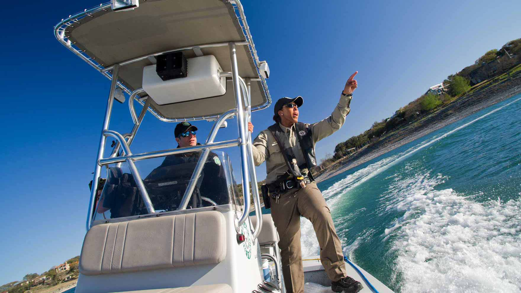 Texas Game Wardens on the water.