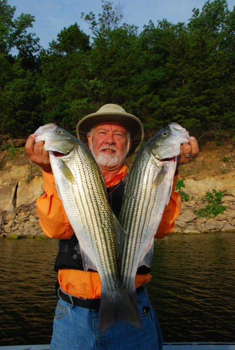 Larry Hodge with his freshwater catch.