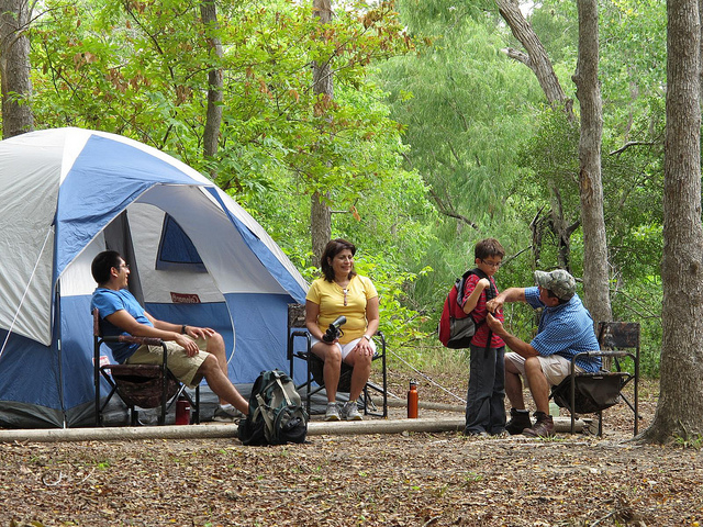 Spring Break: Camping at a state park with the family.