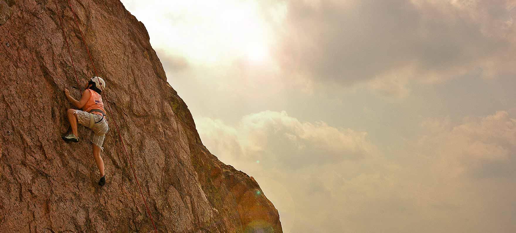 Rock climbing in Texas
