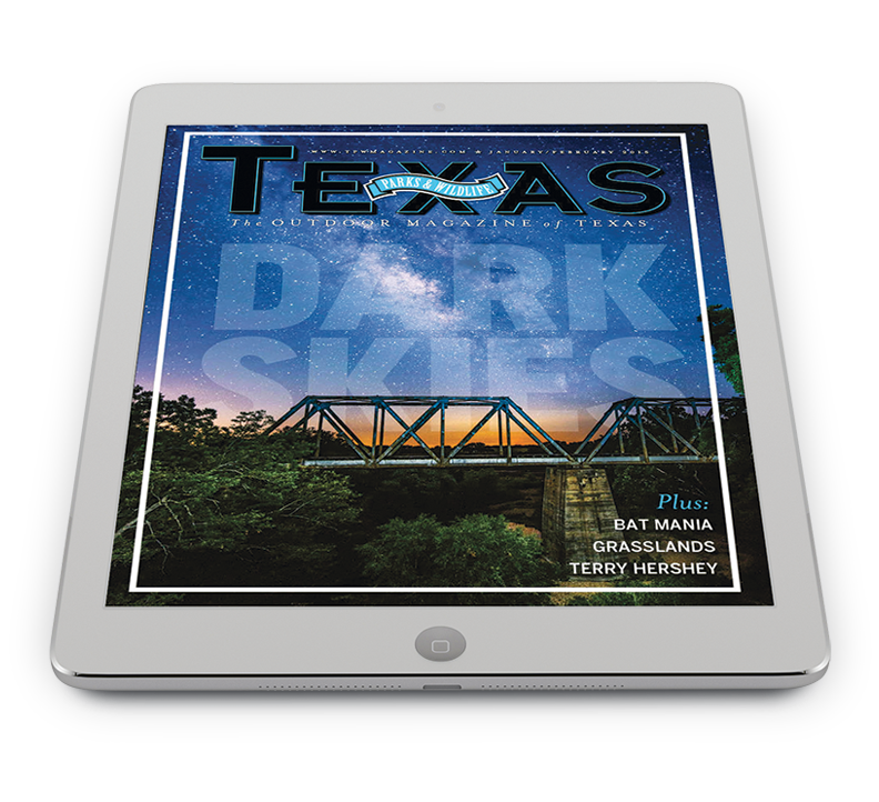 Texas Parks and Wildlife Magazine on an iPad.