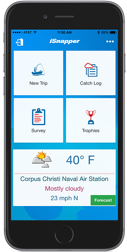 iSnapper App to report your red snapper landings
