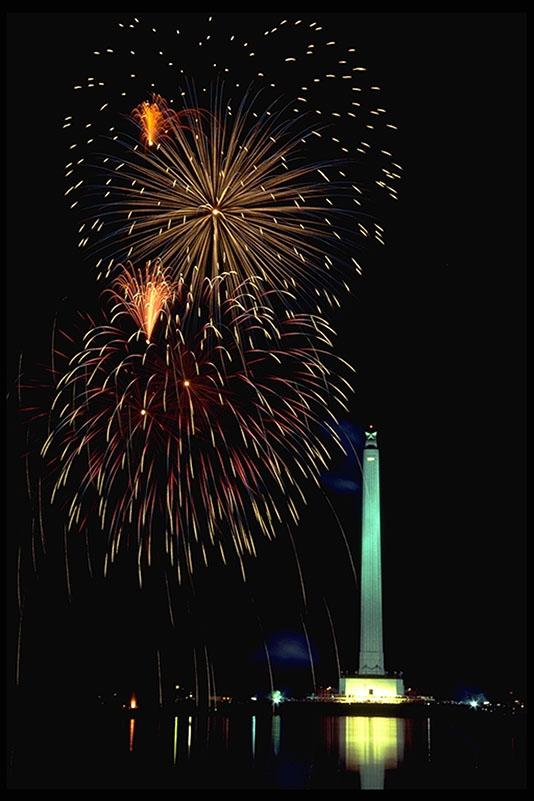 Fireworks at San Jacinto State Historic Site