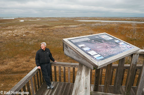 Galveston Island.  Steve Alexander, president of Galveston Island SP friends group.