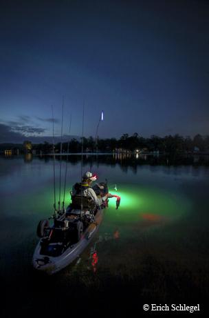 LAKE CHICKAMUAGA NIGHT FISHING LIGHTS FOR BASS BOATS