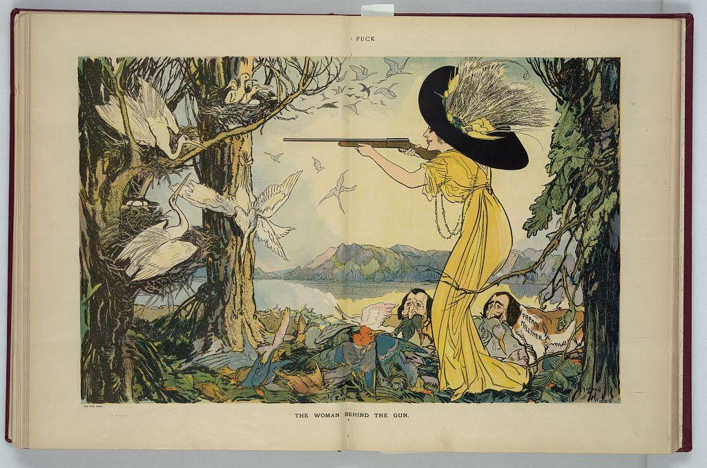 The woman behind the gun, by Gordon Ross, 1873-1946, artist. Library of Congress.