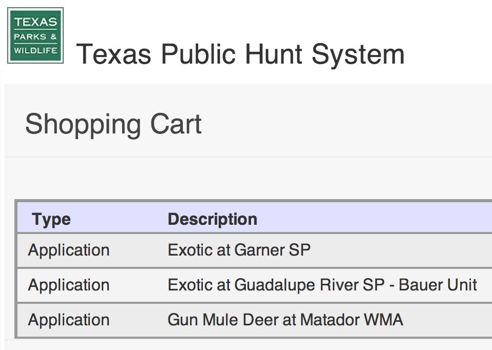 Texas Drawn Hunts.