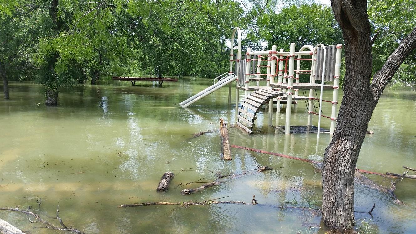 Cedar Hill State Park after the flood.
