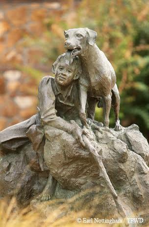 "Fred Gipson, writer of ""Old Yeller"". Memorabilia from Mason, TX Memorial Library."