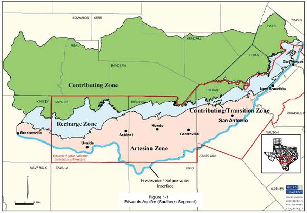 Edwards Aquifer map. Photo credit: National Academies Press
