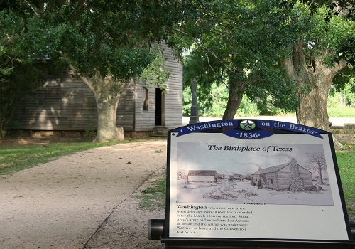 Independence Hall Exhibit at Washinghton-on-the-Brazos, Photo credit: Rob McCorkle, © Texas Parks and Wildlife Department