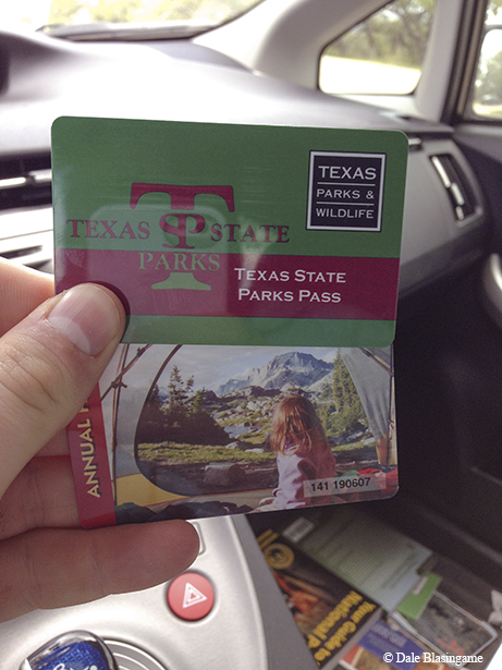 The day Dale Blasingame bought his Texas State Park pass. Photo credit: Dale Blasingame.