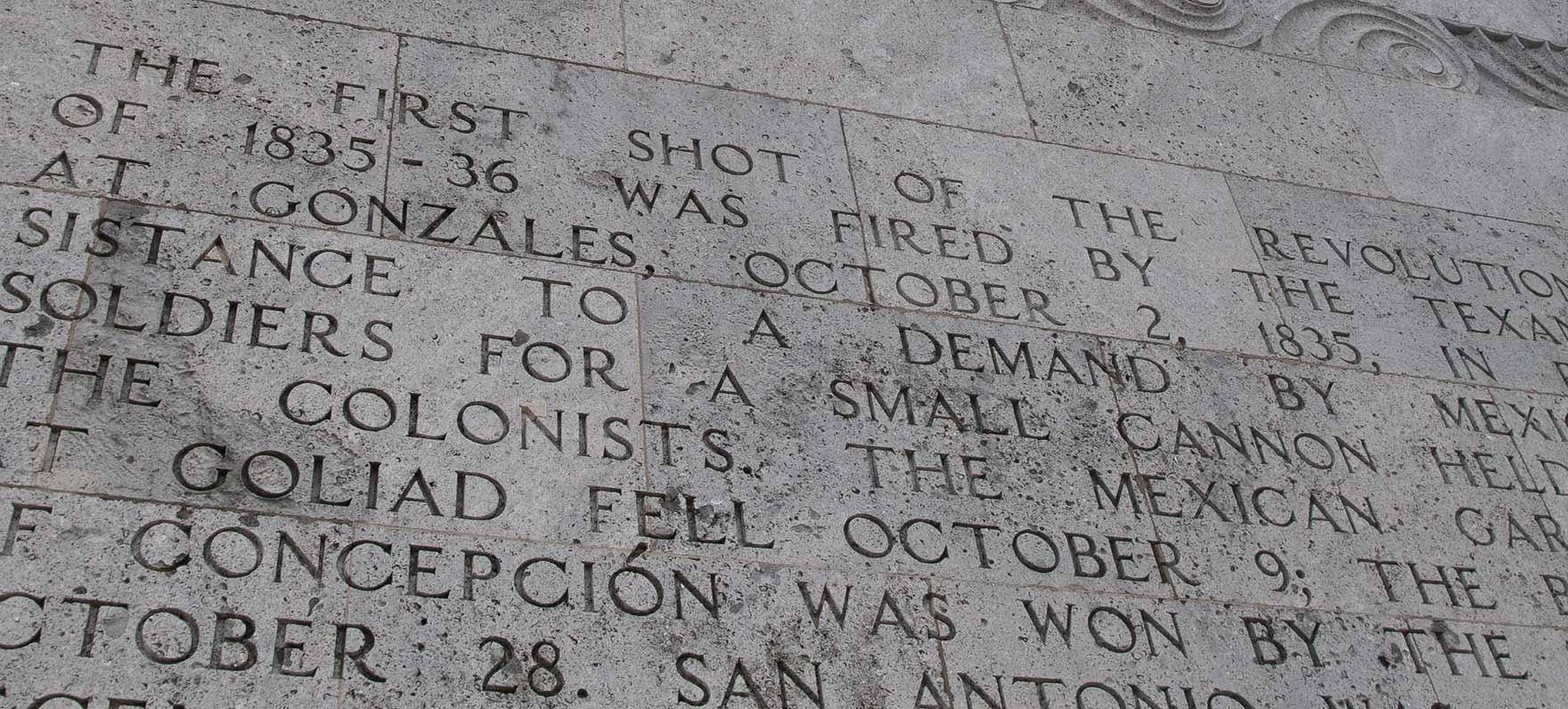 Inscription on San Jacinto Monument