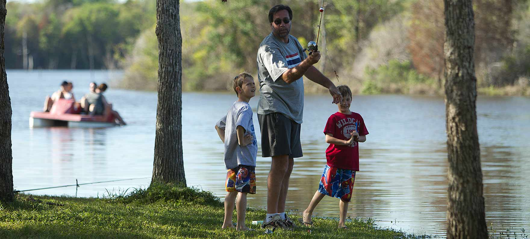 Fishing fun at Purtis Creek State Park in East Texas.