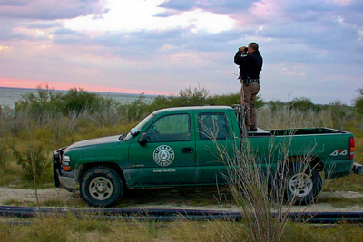Texas Game Warden on the job.