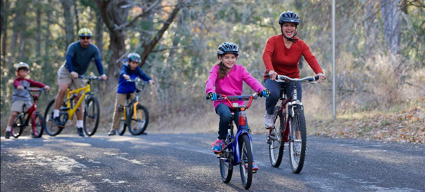 Biking in Buescher State Park