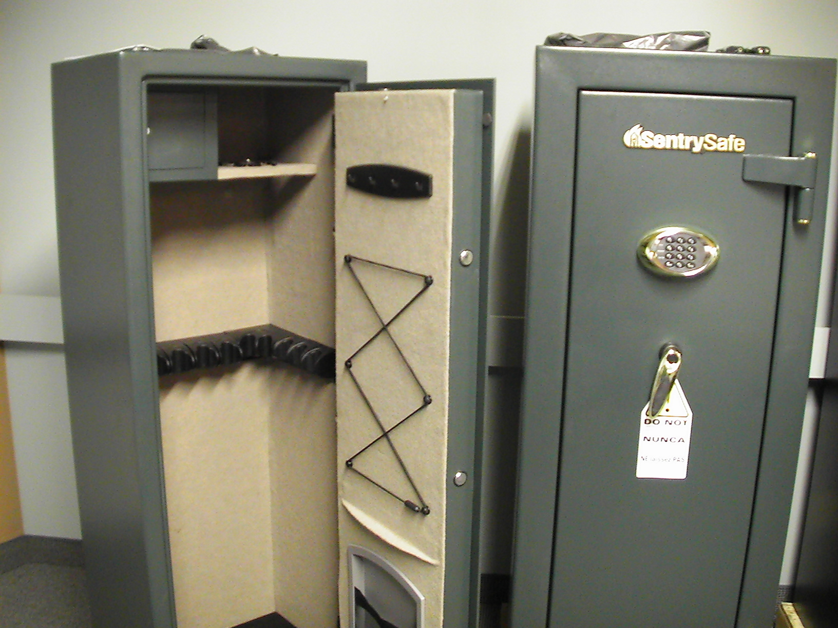 Keep firearms locked in a gun safe, separate from ammunition.