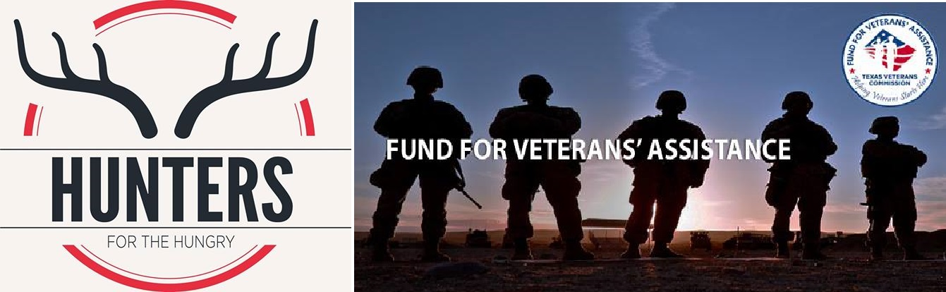 You can help support Hunters for the Hungry and Fund for Veterans at the time you buy a hunting or fishing license.