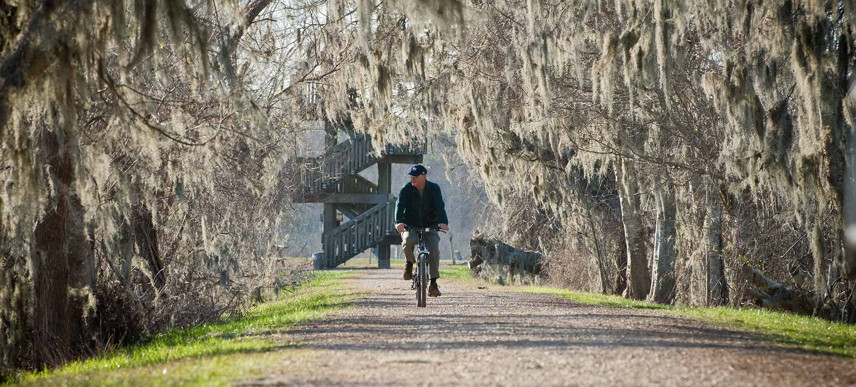 Biking in Brazos Bend State Park