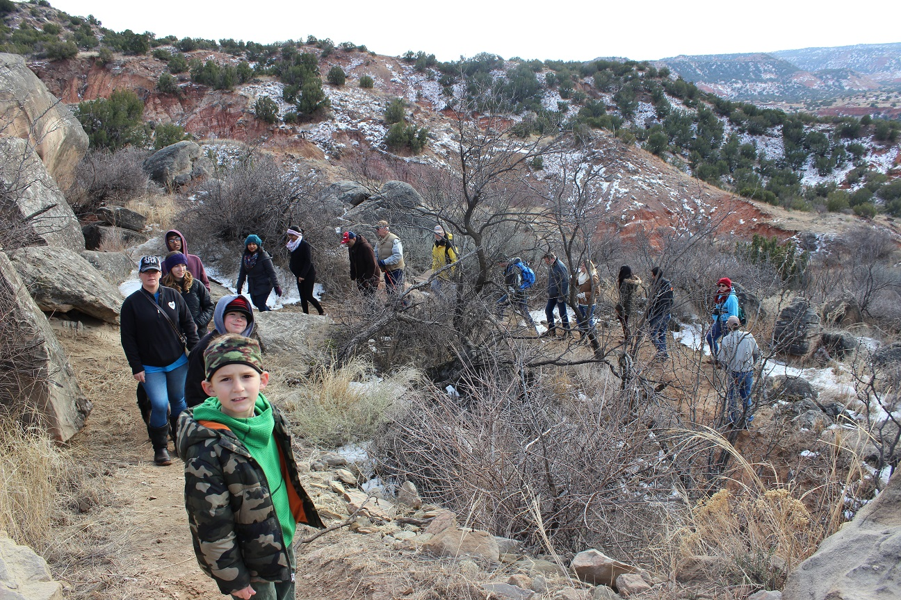 Palo Duro Canyon First Day hike, Upper Comanche Trail.