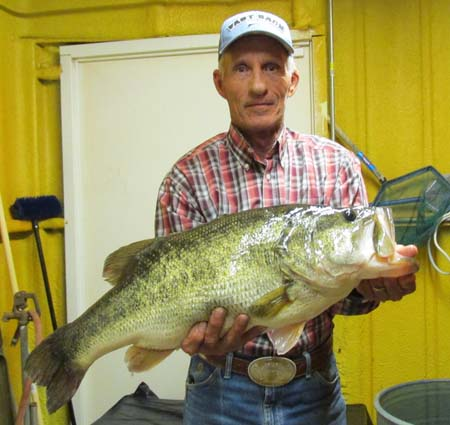 ShareLunker No. 565 Caught by Bruce Butler of Canyon, TX April 13, 2016 in Alan Henry 13.13 pounds, length 26 inches, girth 21 inches