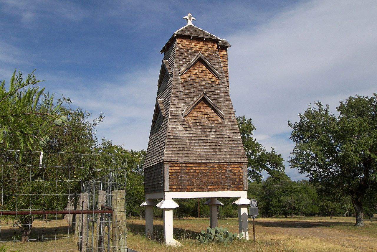 A Hygieostatic Bat Roost located off Farm to Market Road 473 east of Comfort, Texas, United States was built in 1918. The roost was designated a Recorded Texas Historic Landmark in 1981 and listed on the National Register of Historic Places on March 28, 1983.