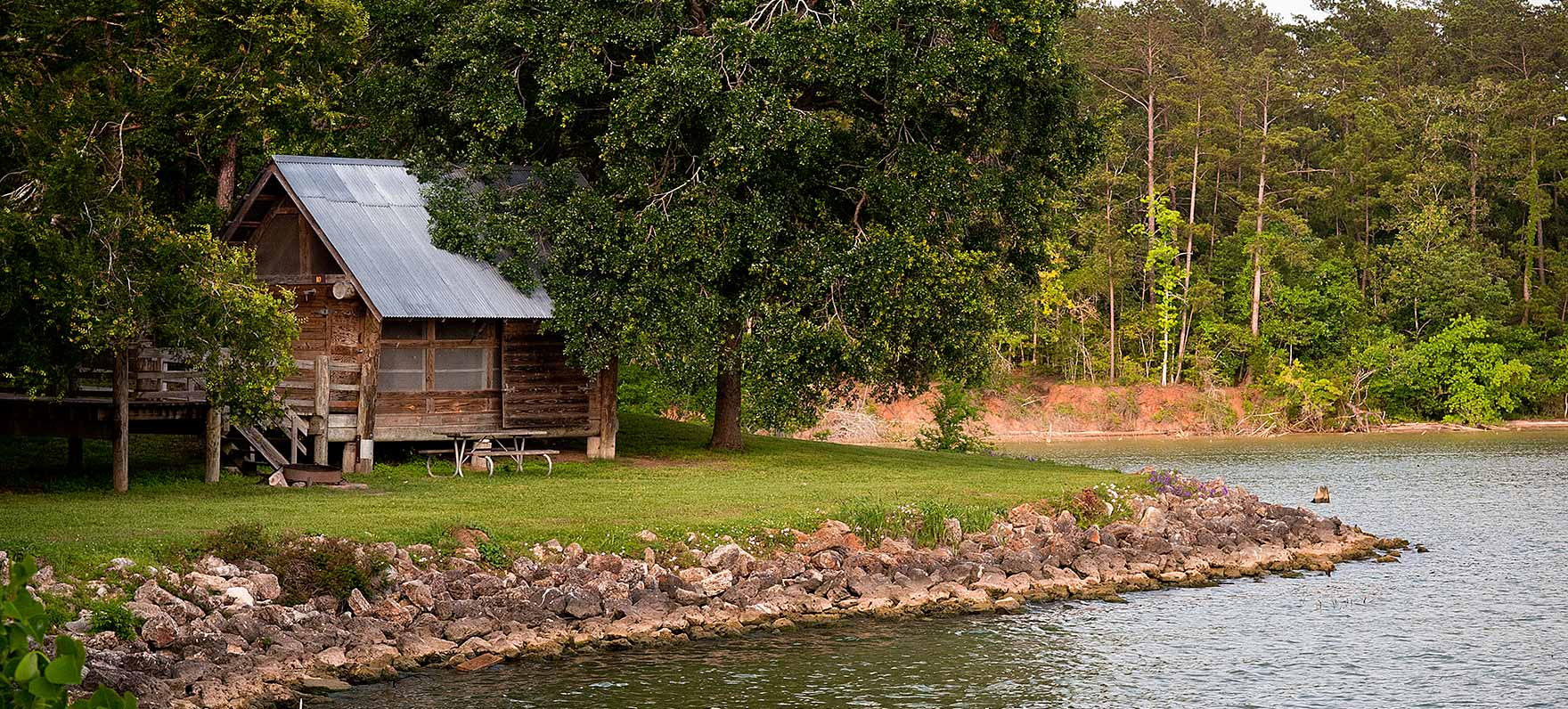 A picturesque place to chill at Lake Livingston State Park.