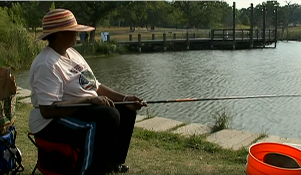 Effie Dukes at her Neighborhood Fishin' pond.