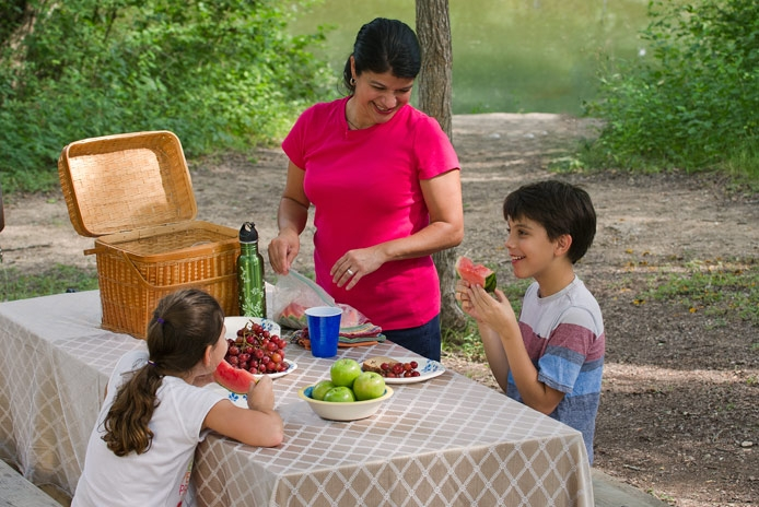 Enjoying a Mother's Day picnic at a Texas State Park.
