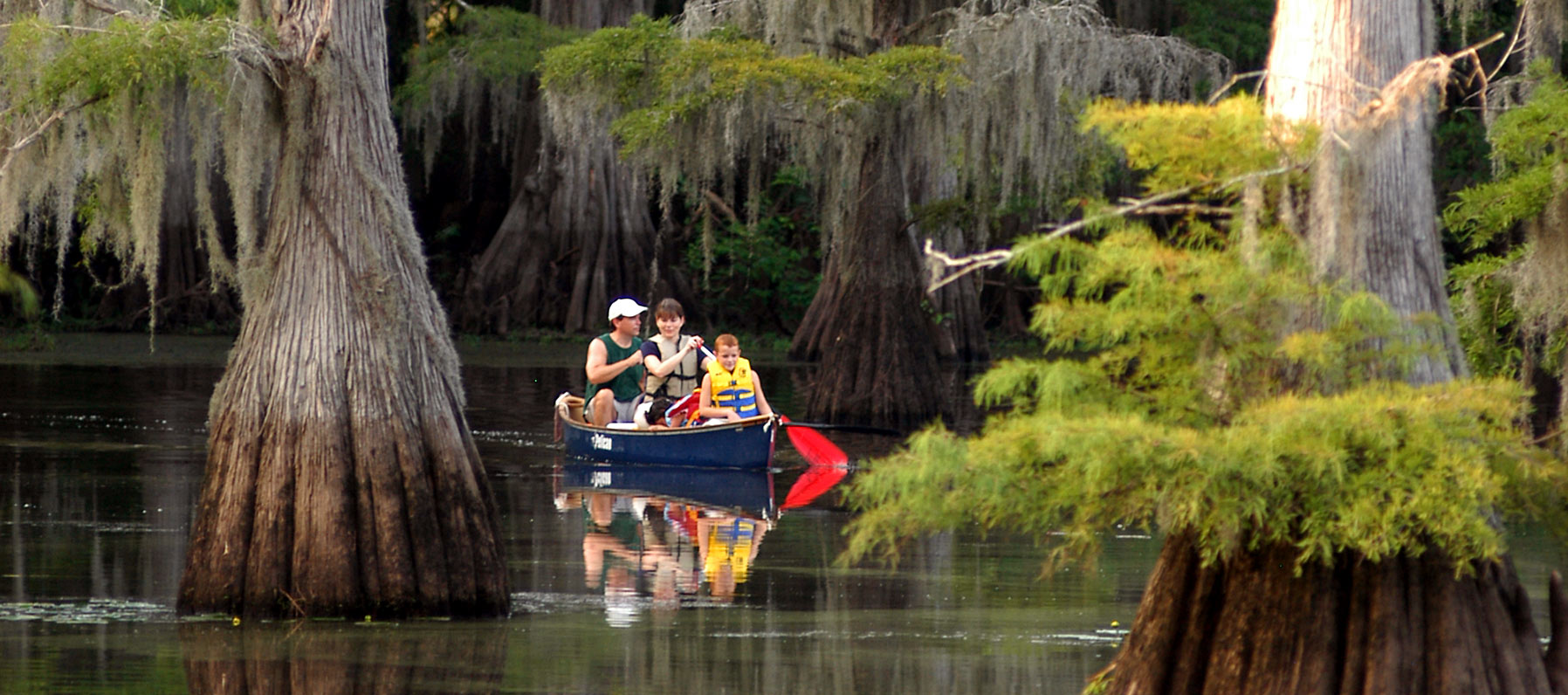 Paddling on Caddo Lake.