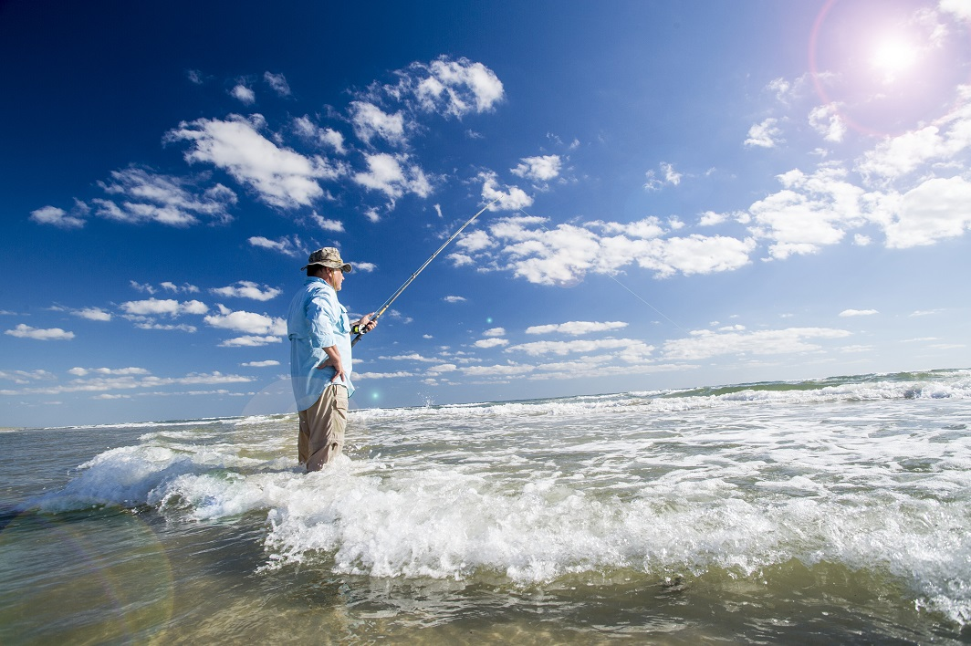 Fishing at Padres Island National Seashore. Image originally appeared in Texas Parks and Wildlife Magazine.