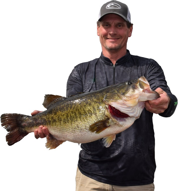 angler with bass
