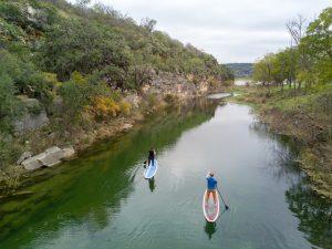 Paddling at Llano Springs.